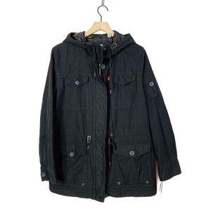 Levi's Hooded Black Military Cargo Jacket Coat XL